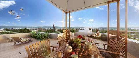Programme immobilier neuf Vivacity vue cathédrale - Strasbourg
