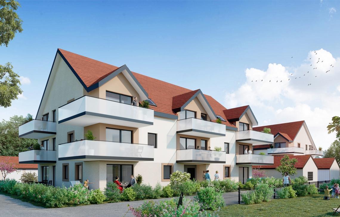 Programme immobilier neuf Krautergersheim - Jardins de Lili