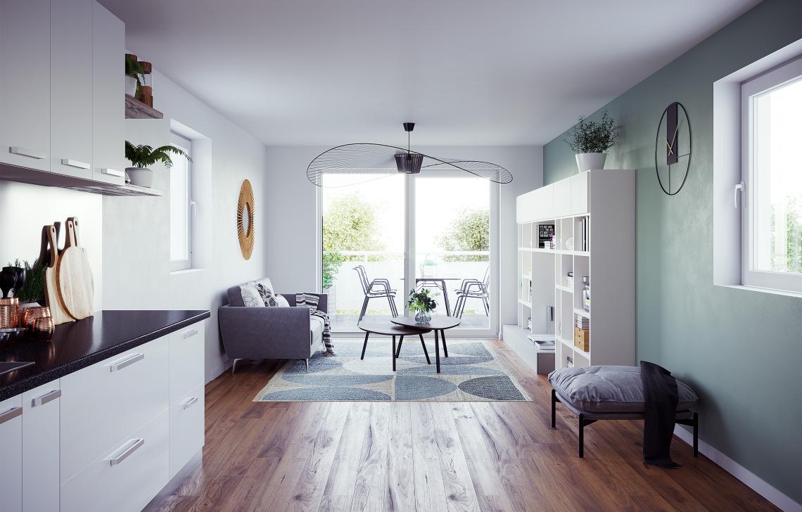programme immobilier neuf Clef Bleue - Strasbourg Neuhof