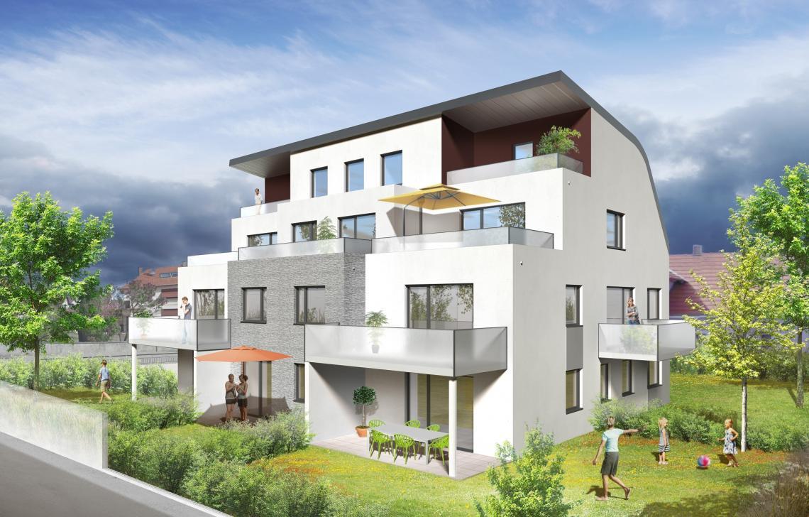 Programme immobilier neuf la villa juliette illkirch for Programme immobilier